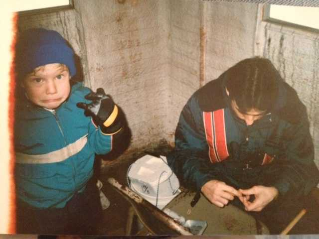 """""""One thingI'vebeen told is I make too many facial expressions on-air. But take a look at the picture, and you see it's a habit I formed years ago. This was my reaction an ice-fishing trip in Minnesota."""""""