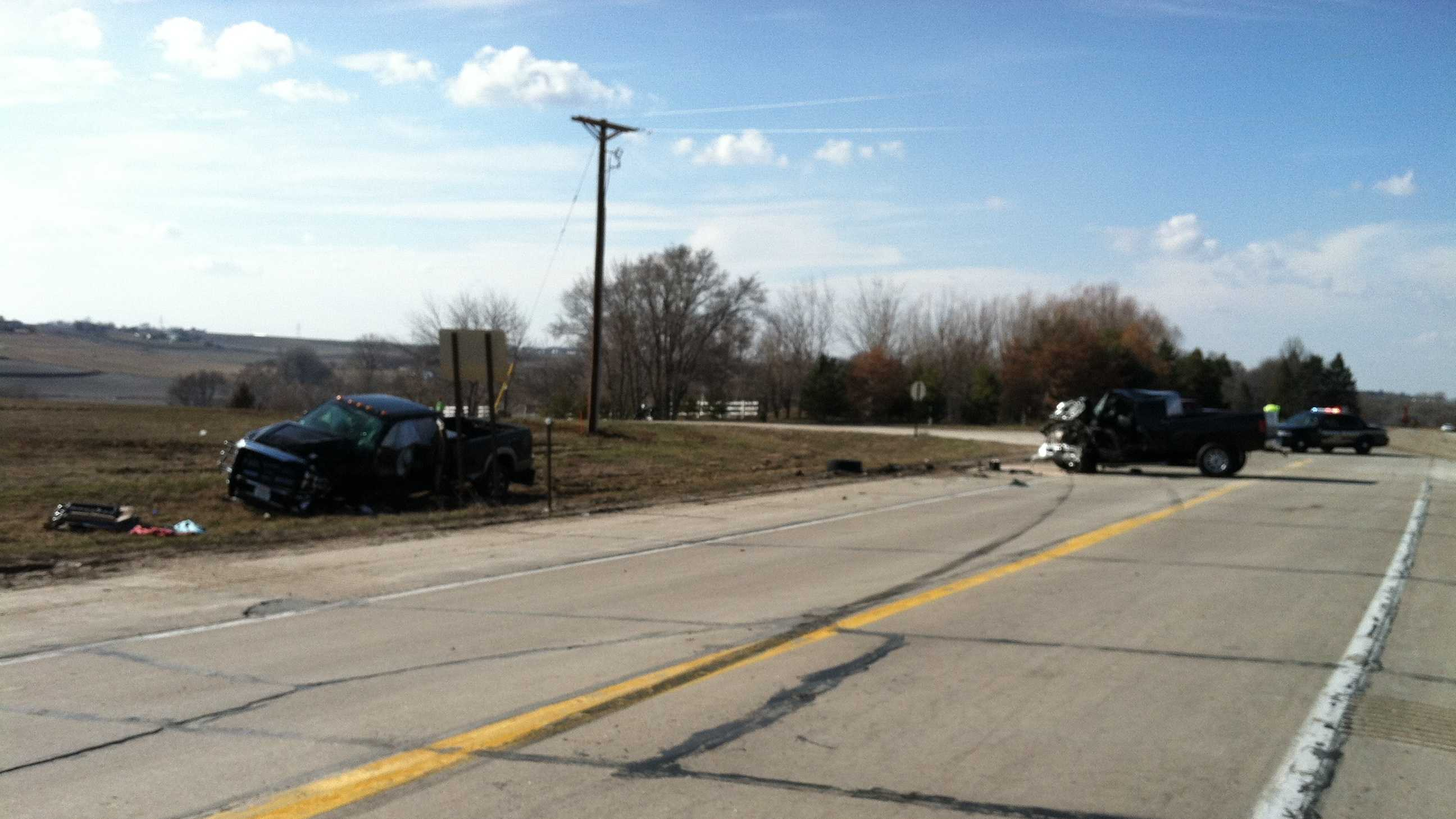 Crash sends two drivers to hospital
