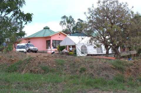 Living quarters in the Healing Kadi compound