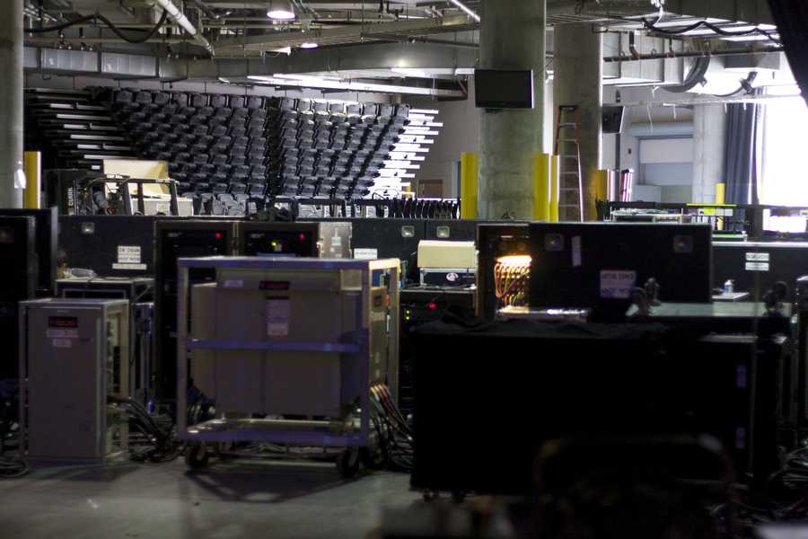 The band brings plenty of equipment with them on the 7,500 miles they travel during the North American leg of the tour.