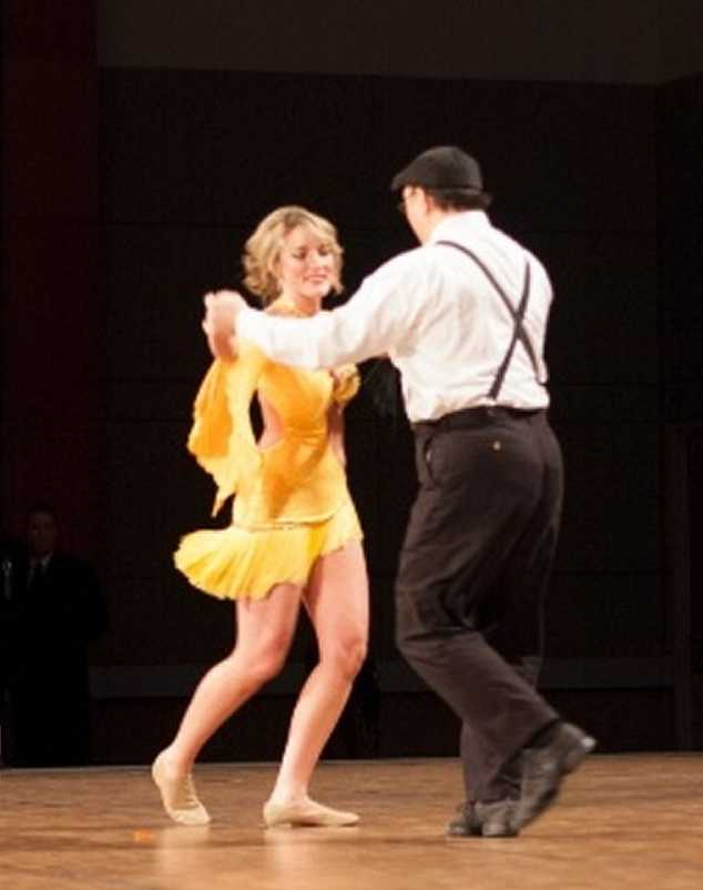 """""""This year I competed in Omaha's Dancing With The Stars, to benefit the Sunshine Kids Foundation. I hadn't danced in probably 12 years--growing up, I did acrobats."""""""
