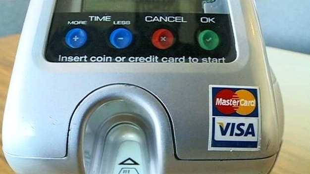 Credit card parking meter