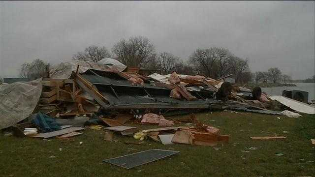 Storm destroys home in Dodge County