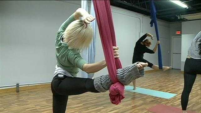 New workout defies gravity with yoga