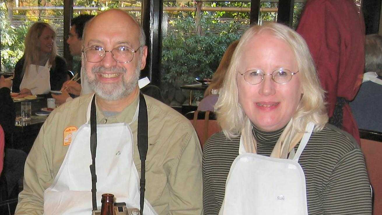 In this undated photo, Roger and Mary Brumback are seen dining at arestaurantin Japan.