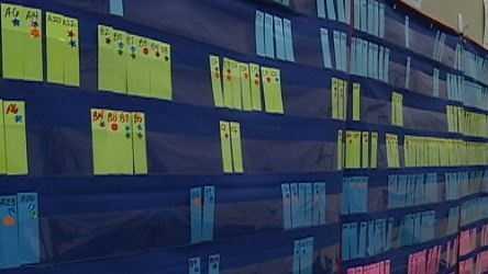 School data wall