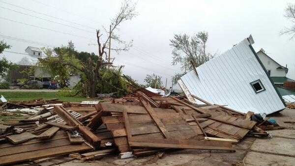 Damage in Edgar, Neb.