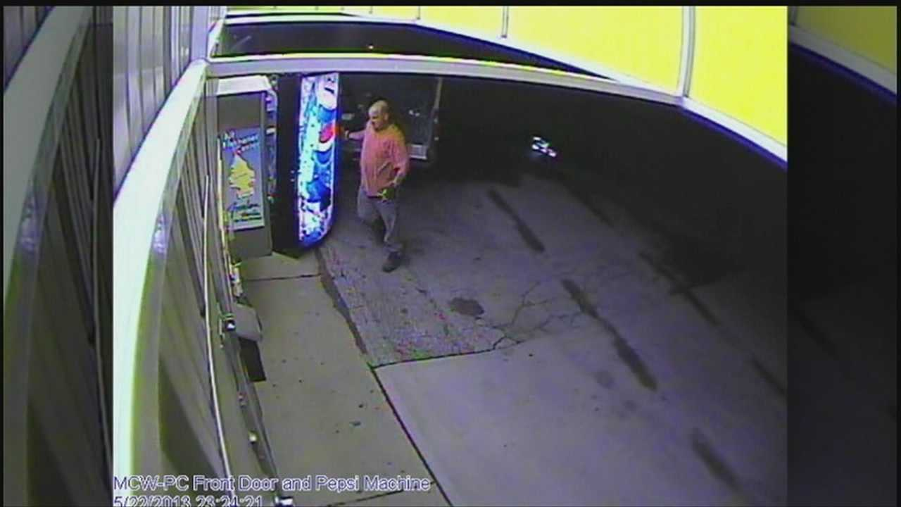 Crime Stoppers is looking for the men who took a Pepsi pop machine from the Miracle Car Wash near 120th and Blondo Streets.