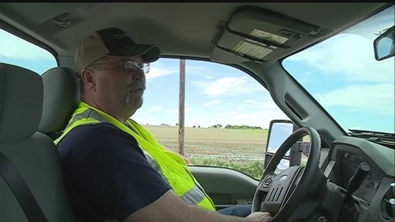 Outside Lincoln, Lancaster County road crews took advantage of Friday's sunny weather to stay ahead of the next potential storm.