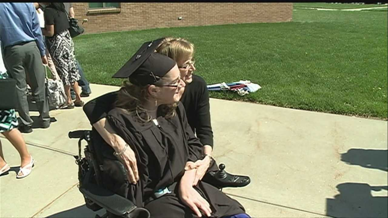 For a graduate of Grace University, a diploma is more than a symbol of success. Janae Hofer started law school Monday thanks to hard work and the help of a friend.