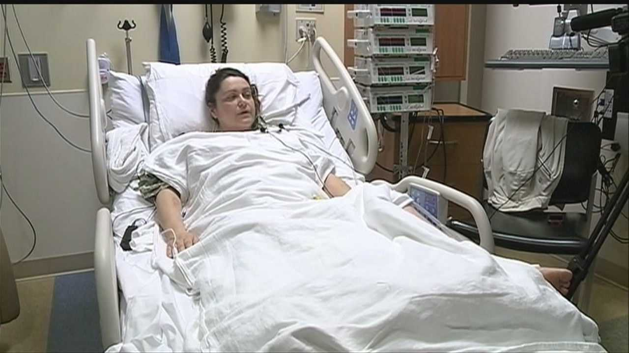 A Canadian woman said she traveled to Nebraska for health care because Canada's health care system could not help her.