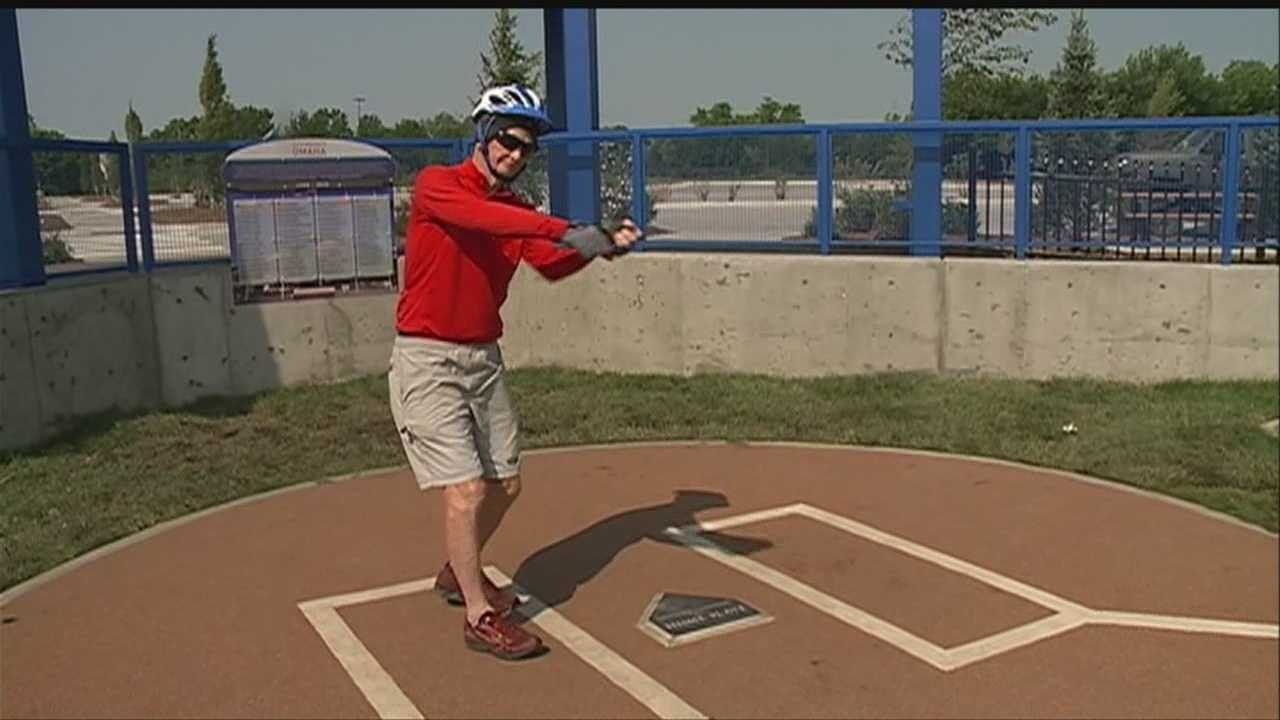 Gerald Griffin, who played in the College World Series 53 years ago, relived his home plate memories Thursday at what used to be Rosenblatt Stadium.