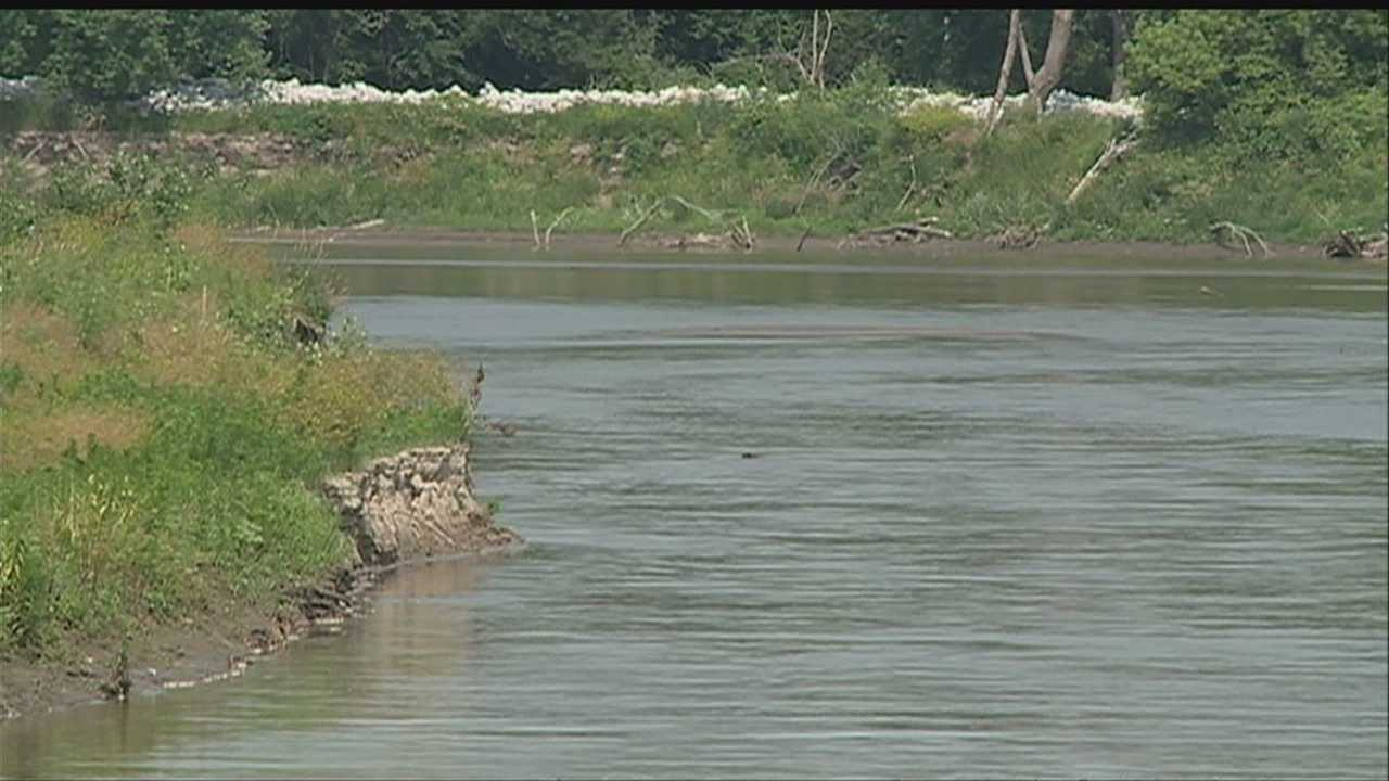 A woman was rescued from a sandbar in the Elkhorn River on Sunday.