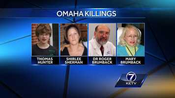 Garcia is accused in the deaths of Thomas Hunter, Shirlee Sherman, Dr. Roger Brumback and Mary Brumback.