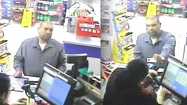 Police released these surveillance images showing Anthony J. Garcia making a purchase at a Council Bluffs convenience store on May 12, 2013.