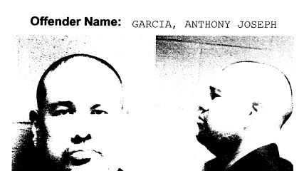 These mug shots of Anthony J. Garcia was taken shortly after he had been pulled over and arrested on suspicion of driving under the influence in a Chicago suburb.