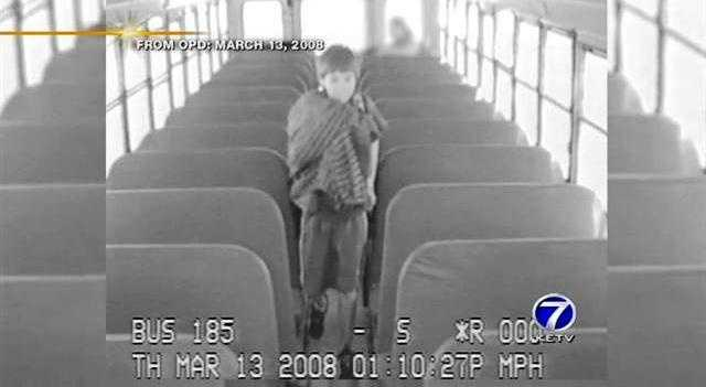 Thomas Hunter is seen in surveillance video from a bus hours before his body is found at his Dundee home on March 13, 2008.