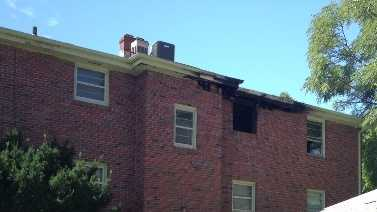 Two people were rescued from an early-morning apartment fire.
