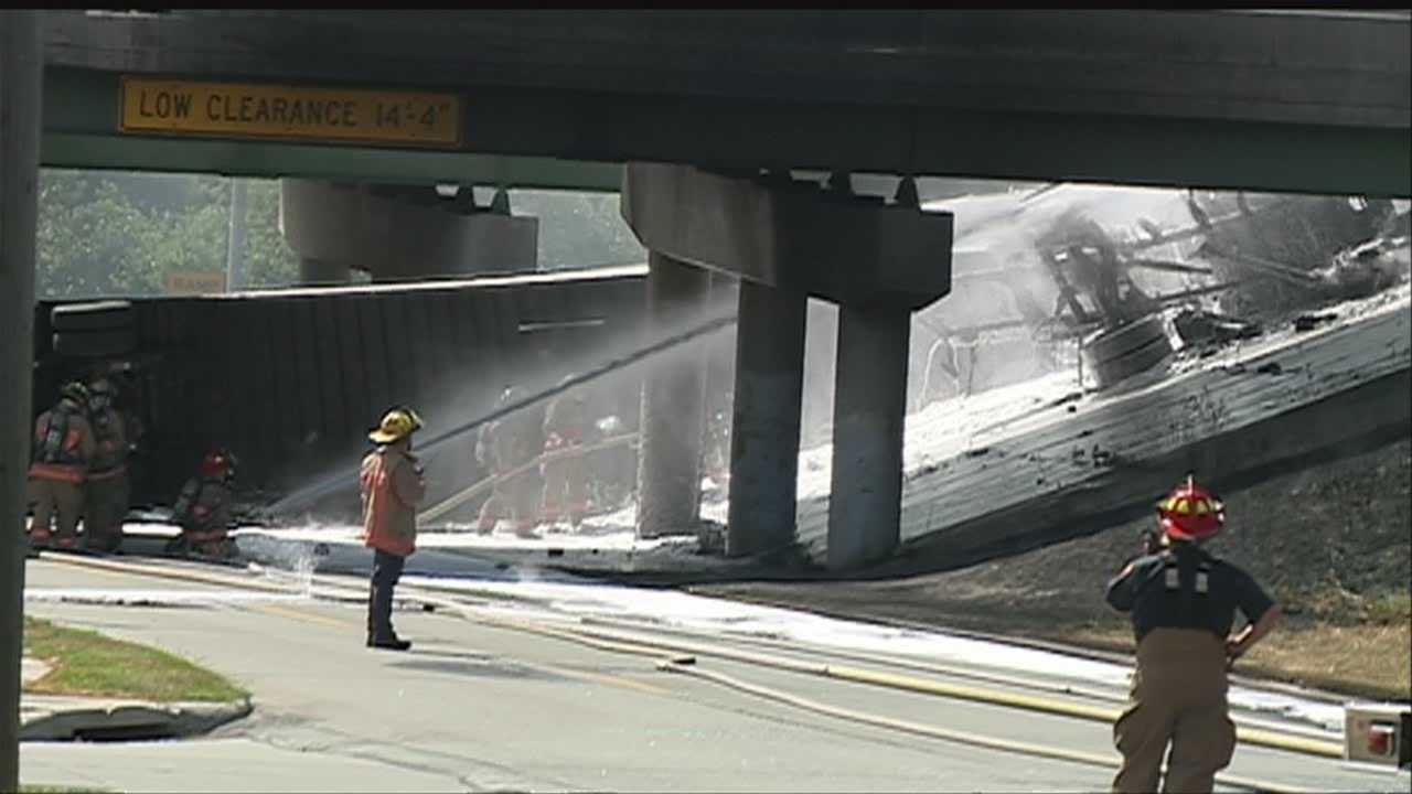The I-29 bridge over G Avenue is still closed after a semitrailer crash Sunday afternoon.
