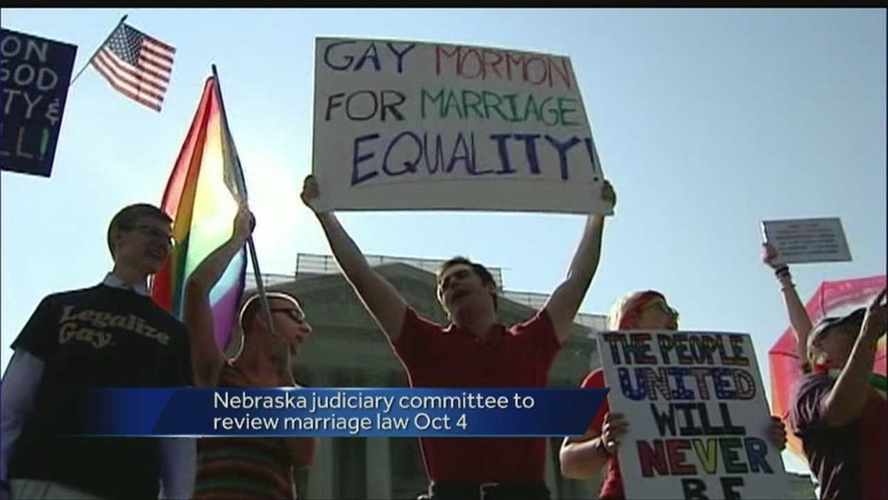 Nebraska lawmakers are set to discuss same-sex marriage this fall.
