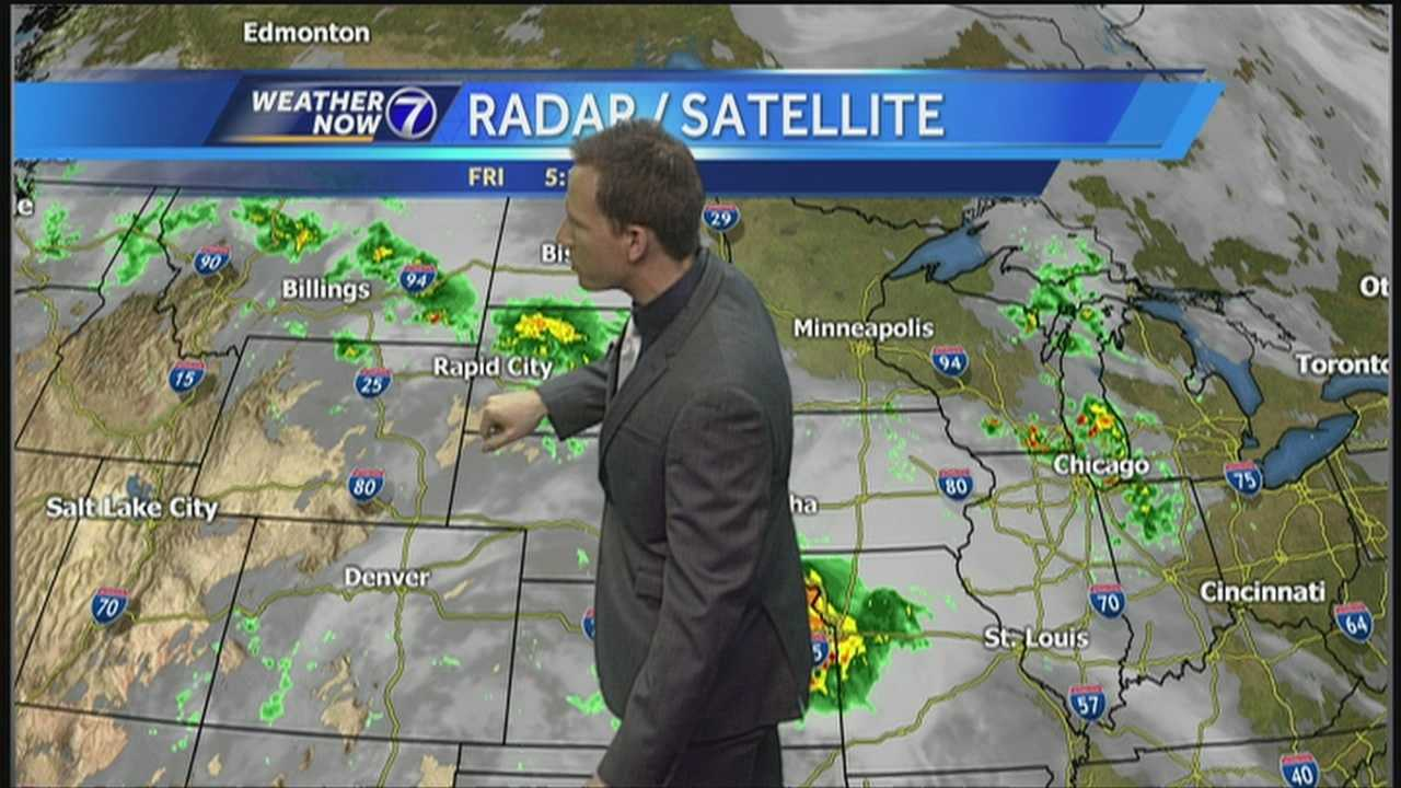 Another round of showers and thunderstorms are poised to roll into Omaha Friday, but there are improvements ahead to start the weekend. Meteorologist Matt Serwe has the latest in this Weather Now forecast.