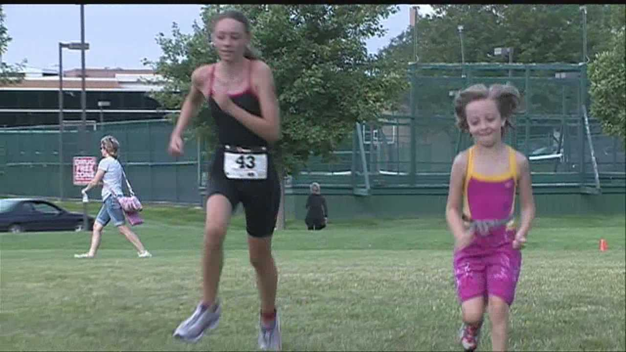 A group of kids competing in a triathlon is proving age is just a number.