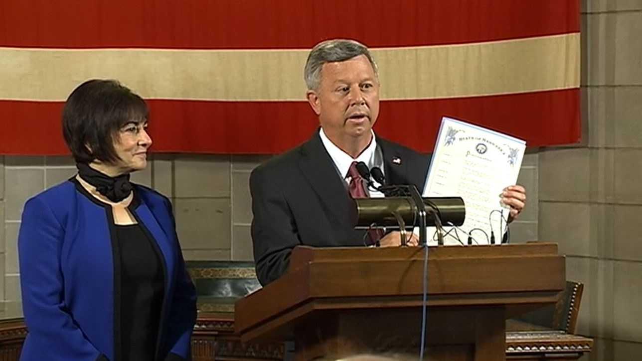 Governor-Heineman and Sally Ganem