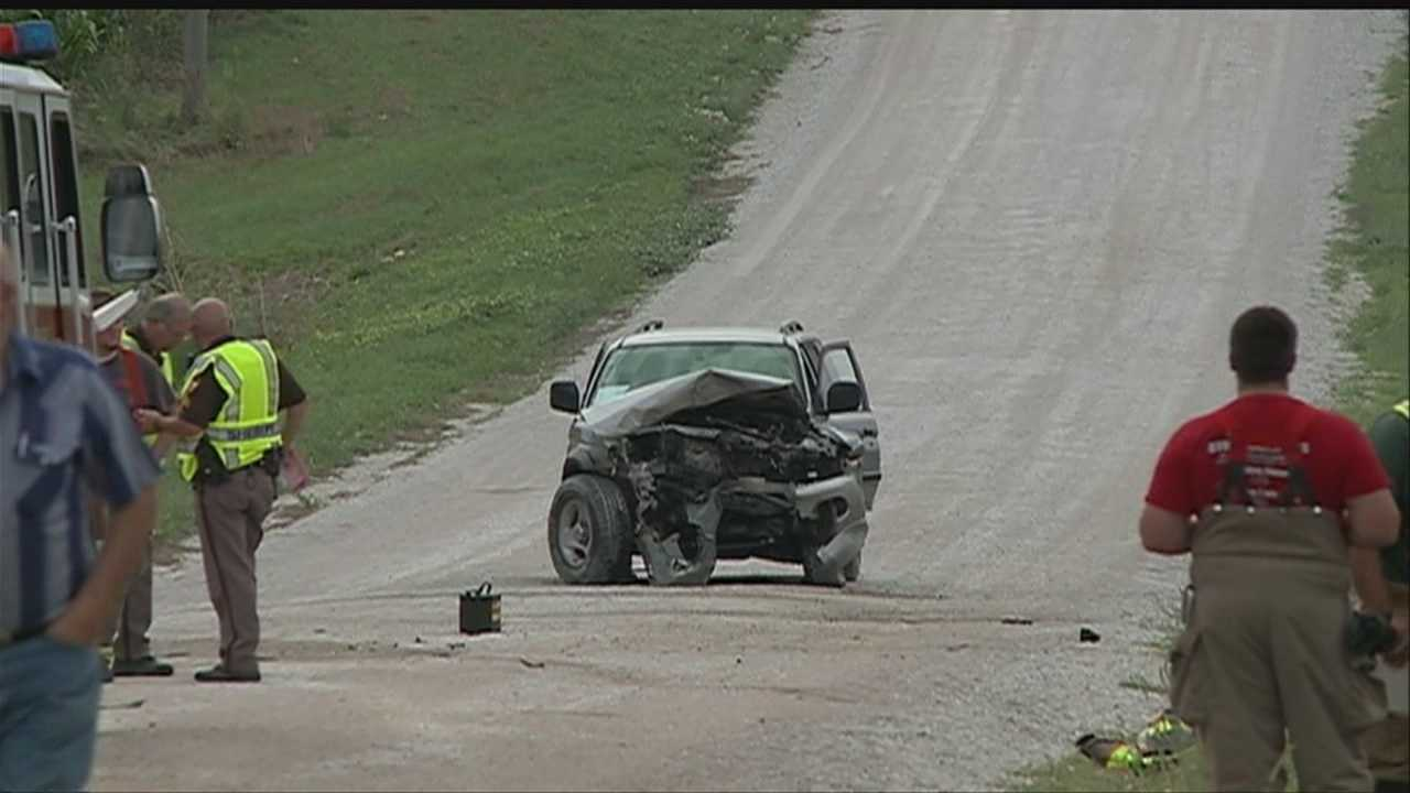 One person was taken to a hospital after a two-vehicle crash in Sarpy County on Thursday.