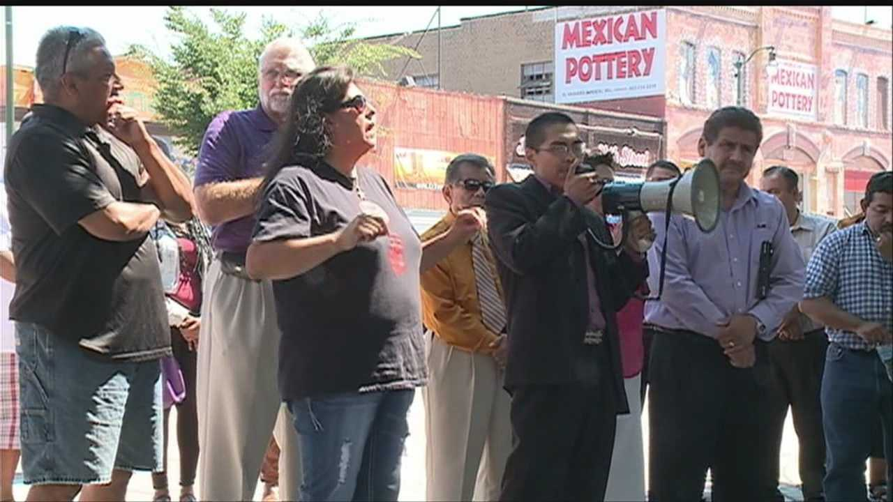 South Omaha pastors, police and the mayor rallied on Sunday, calling for an end to violence.
