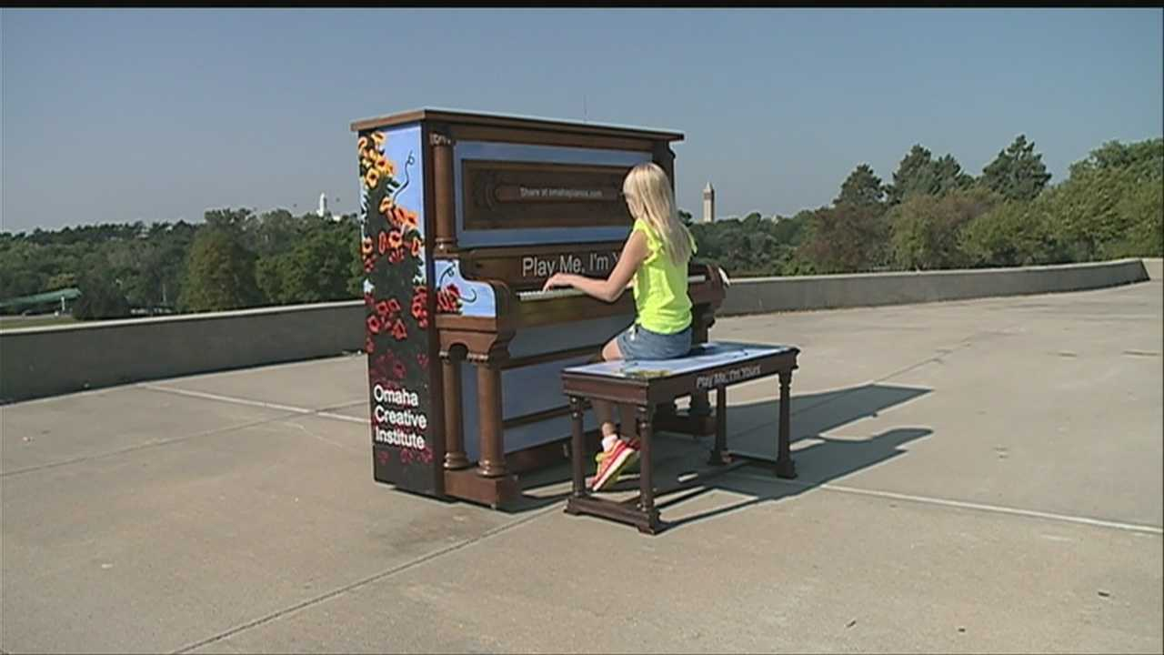 More than 500 pianos are scattered in random places in cities around the world, including Omaha.
