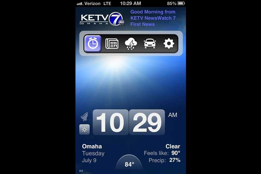 It's your custom wake-up call with the KETV Weather Now forecast as your alarm.