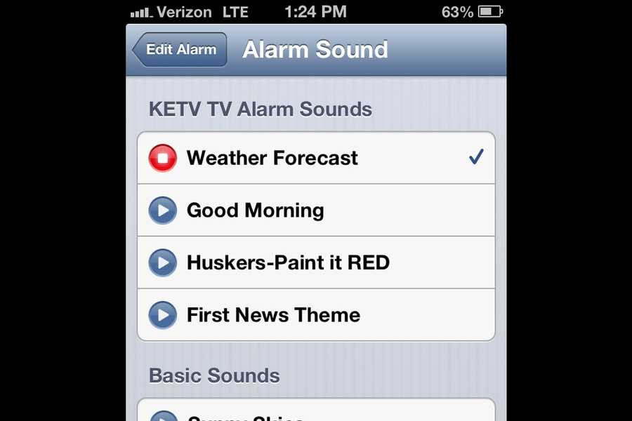 Plus, you can pick other sounds to help wake you up each morning.