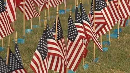 Memorial Park flags