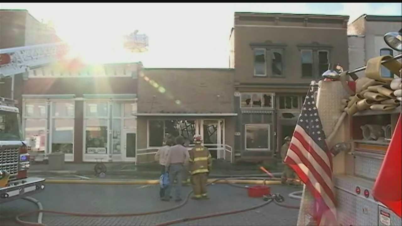 Iowa town rebuilds after devastating fire