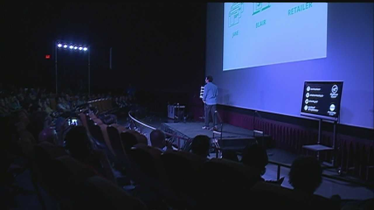 Aspiring entrepreneurs pitched their ideas in Omaha Thursday in front of hundreds of people.