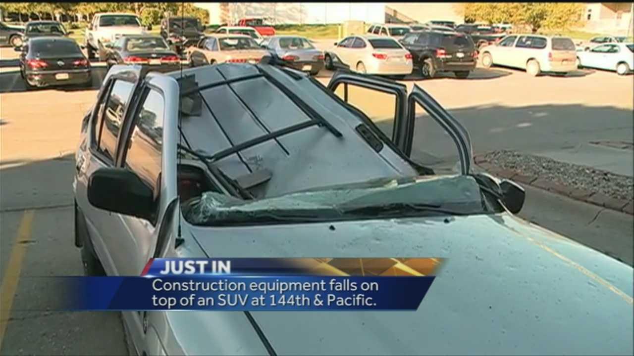 SUV smashed