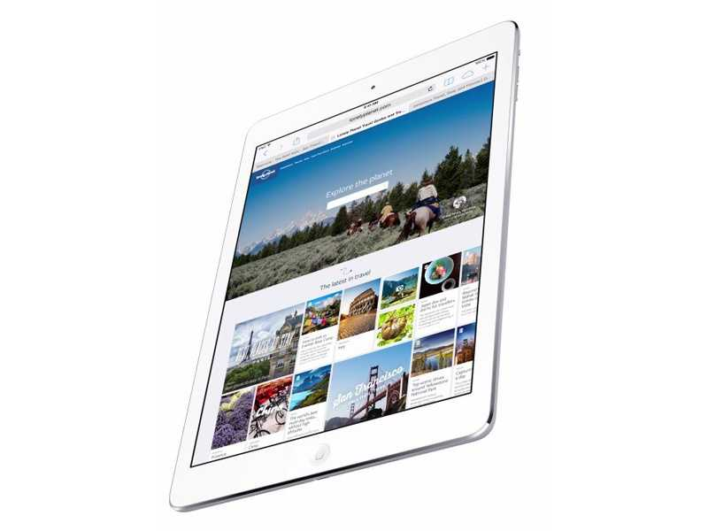 iPad Air boasts a 9.7-inch display with 2048x1536 resolution.