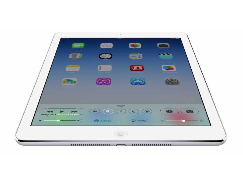 Apple says the new A7 chip in iPad Air was designed with 64-bit architecture.