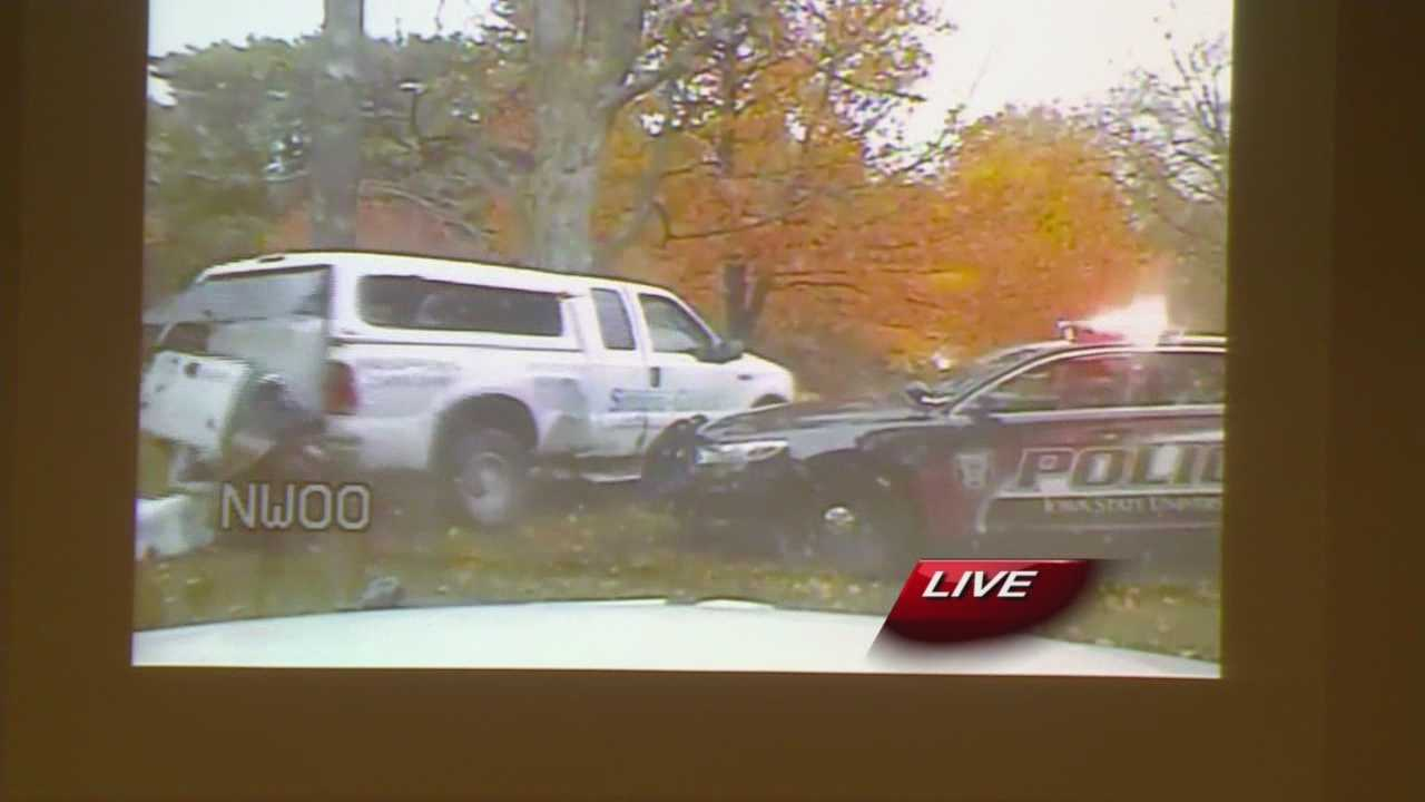 Police video shows a police chase that ended in a fatal shooting in Ames.