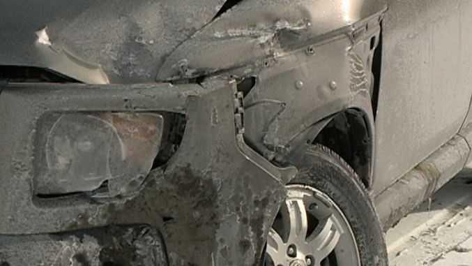 banged up car
