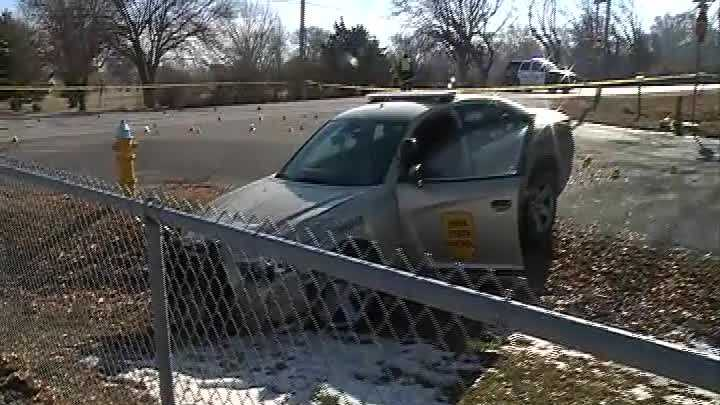 One person is in the hospital after authorities say he was shot by an Iowa State Patrol trooper and then led law enforcement on a chase Sunday morning.