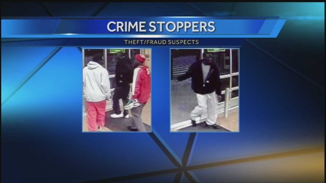 Investigators said four men broke into a truck and used the stolen credits at a number of stores on Oct. 31.