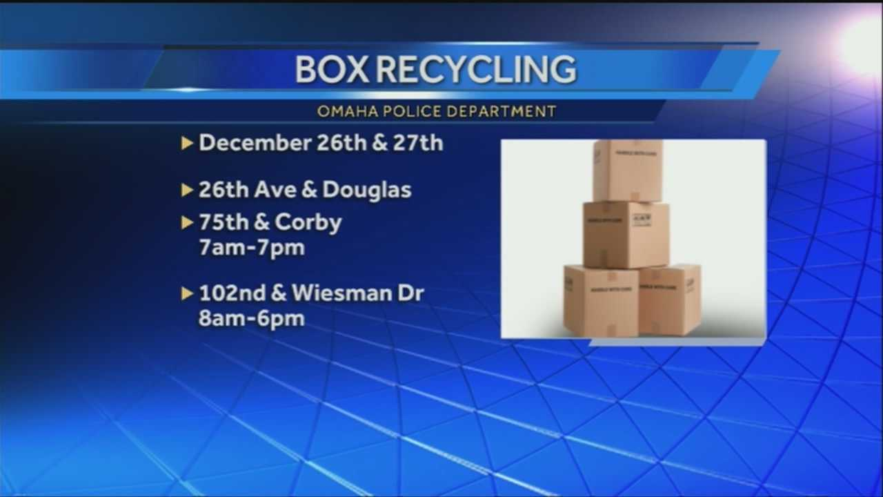 OPD is hosting a cardboard box drop-off event.