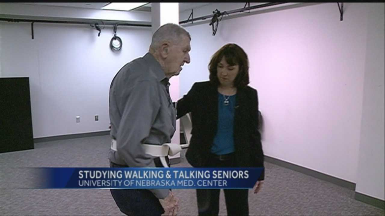 As 85-year-old Ralph Smith walks back and forth, Dr. Dawn Venema, who heads the physical therapy education program, watches every move he makes.