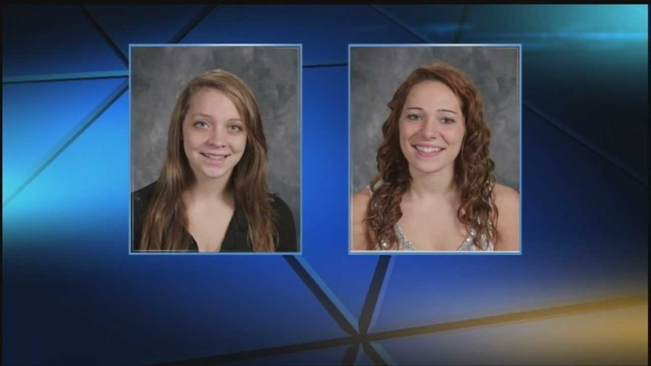 Two teenage girls were killed in a head-on crash Sunday in Cass County.