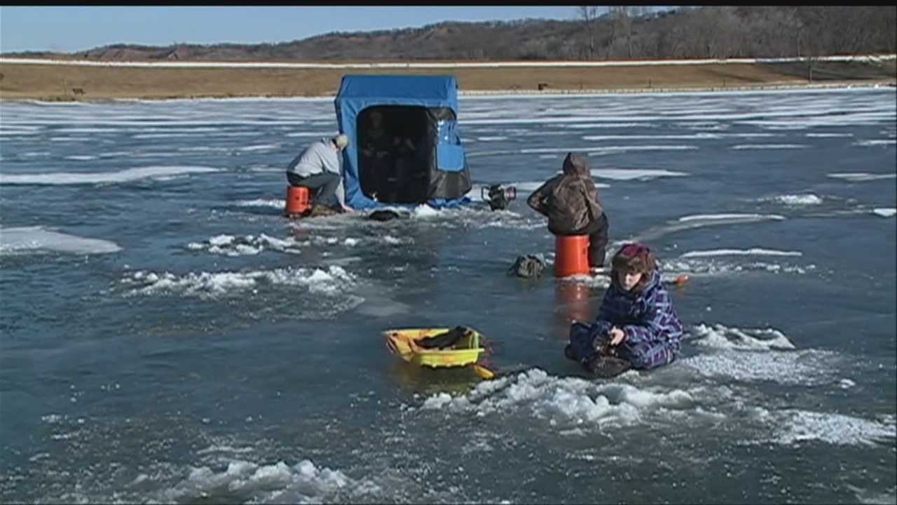 Hooked on ice fishing at Big Lake Park