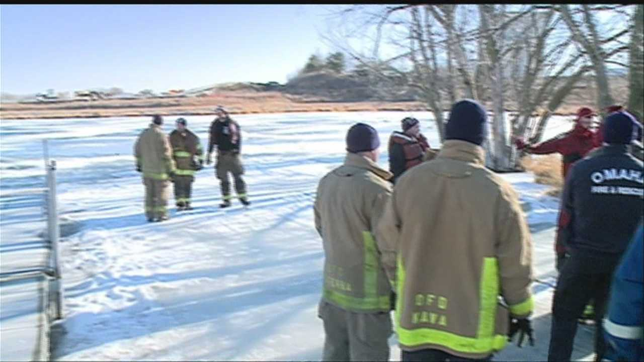 Local fire crews team up this weekend to make sure that they are prepared for when the call goes out to rescue somebody from icy waters.