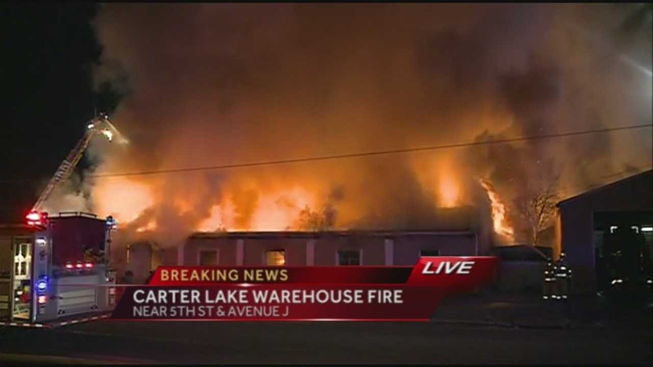 A fire broke out inside a General Manufacturing just before 9 p.m.