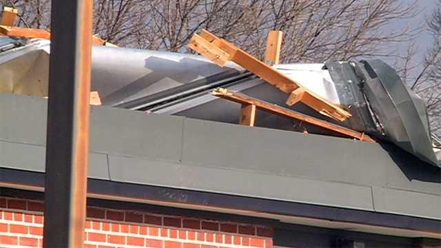 School roof damage