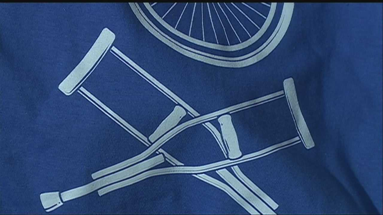 A motorcycle crash leaves an Omaha man disabled, but it also inspires him to start a clothing line that may surprise you in several ways.